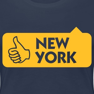 Jeansblau New York Thumbs Up (1c) T-Shirts - Frauen Premium T-Shirt