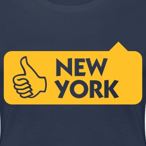 Jeansblauw New York Thumbs Up (1c) T-shirts - Vrouwen Premium T-shirt