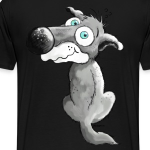 Little Wolf - Wolves - Dog - Cartoon T-Shirts - Men's Premium T-Shirt