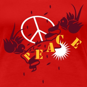 Red peace_swallows fight for peace Women's T-Shirts - Women's Premium T-Shirt