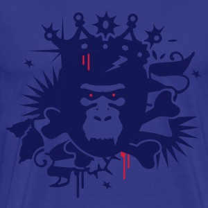 Royal blue King Kong - gorilla with a crown Men's T-Shirts - Men's Premium T-Shirt
