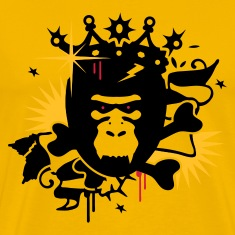 Yellow King Kong - gorilla with a crown Men's T-Shirts