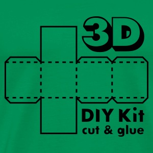 Mossgrön 3D Do it Yourself Kit T-shirts - Premium-T-shirt herr