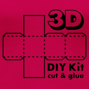 Rubinröd 3D Do it Yourself Kit T-shirts - Premium-T-shirt dam