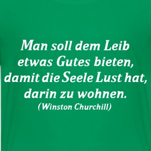 Kelly green Zitat - Churchill - Koch Kinder T-Shirts - Teenager Premium T-Shirt