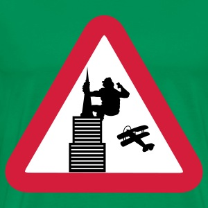 King Kong road sign - Men's Premium T-Shirt