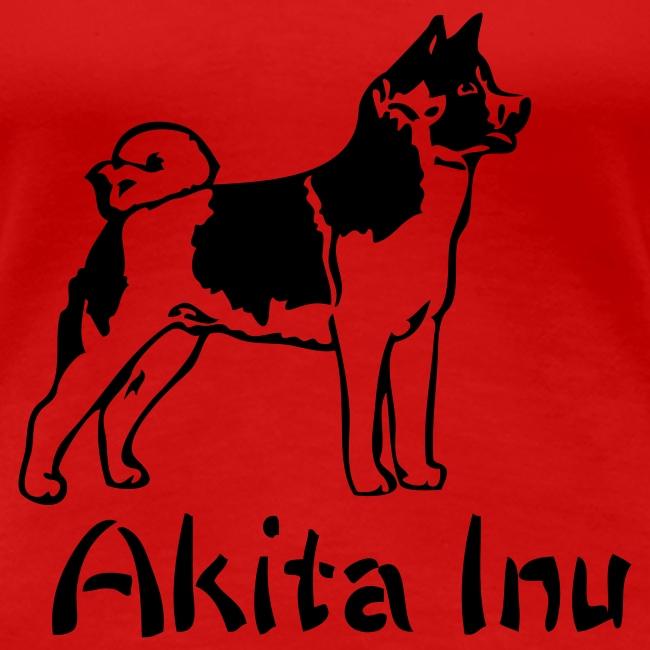 Womens Akita Inu T-Shirt