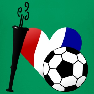 Vert tendre J'aime le football français / I heart French soccer (DDP) T-shirts Enfants - T-shirt Premium Ado