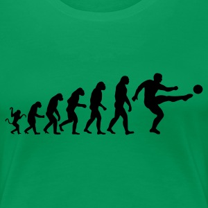 Fussball Evolution - Frauen Premium T-Shirt