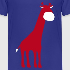 Turquoise Giraffe Kinder shirts - Teenager Premium T-shirt