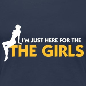 Jeansblå Just there for the Girls (2c) T-shirts - Dame premium T-shirt