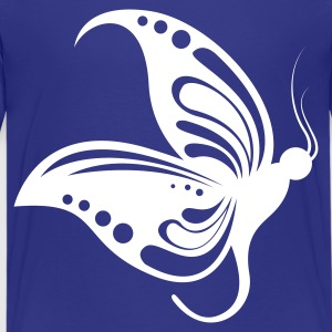 Cyan butterfly1 1 color Kids' Shirts - Teenage Premium T-Shirt