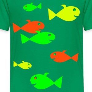 Kelly green Fische Vektor Kinder T-Shirts - Teenager Premium T-Shirt