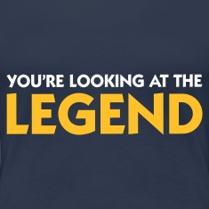 Jeans blue Looking at the Legend (2c) Women's T-Shirts