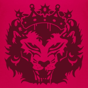 Pink The lion's head with crown Kids' Shirts - Teenage Premium T-Shirt