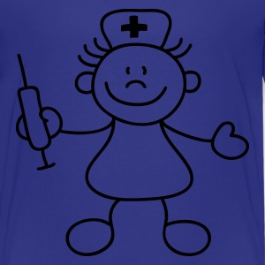 Cyan Cute little nurse Kids' Shirts - Teenage Premium T-Shirt