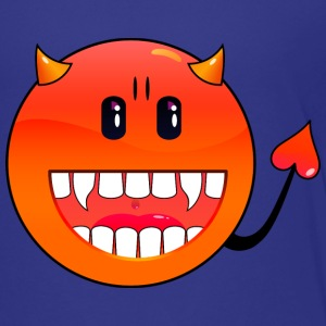 Cyan Teufel Emoticon / devil smiley (A1, DDP) Kids' Shirts - Teenage Premium T-Shirt