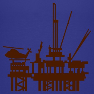 Turkis offshore boreplatform / offshore oil rig (1c) Børne T-shirts - Teenager premium T-shirt