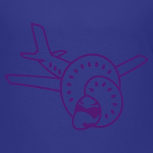 Turkis plan med knude / plane with knot (1c) Børne T-shirts - Teenager premium T-shirt