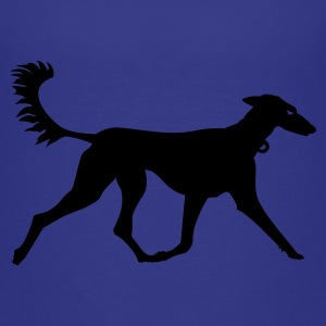 Cyan Windhund / greyhound (1c) Kids' Shirts - Teenage Premium T-Shirt