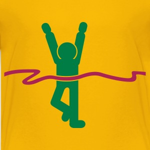 Yellow Siegerlauf / winning runner (2c) Kids' Shirts - Teenage Premium T-Shirt
