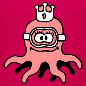 little_princess_octopuss_b_3c Camisetas - Camiseta premium adolescente