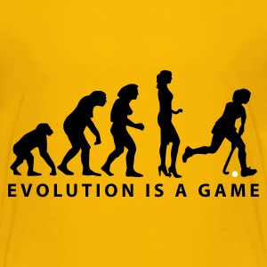 Gelb evolution_hockey_woman_b_2c Kinder T-Shirts - Teenager Premium T-Shirt