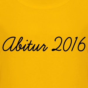 Gelb Abi 2016 Kinder T-Shirts - Teenager Premium T-Shirt
