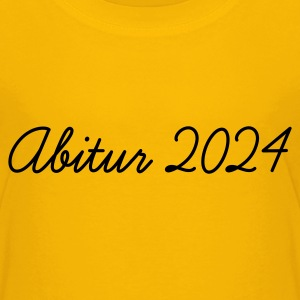 Gelb Abi 2024 Kinder T-Shirts - Teenager Premium T-Shirt