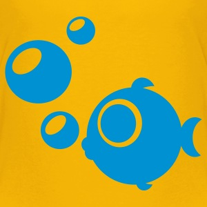 Gelb Fisch Kinder T-Shirts - Teenager Premium T-Shirt
