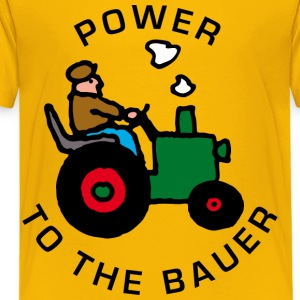Gelb power_to_the_bauer_b Kinder T-Shirts - Teenager Premium T-Shirt