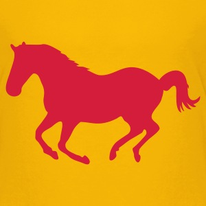 Yellow Horse pony riding horse gallop Kids' Shirts - Teenage Premium T-Shirt
