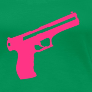 Kelly green Pistol Gun Weapon Women's T-Shirts - Women's Premium T-Shirt