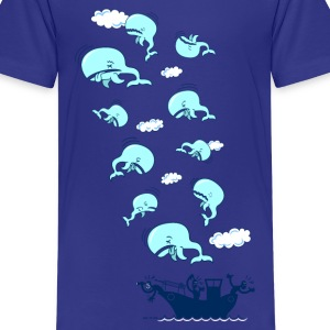 Cyan Where have the Whales Gone? Kids' Shirts - Teenage Premium T-Shirt