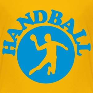 Gelb Handball Kinder T-Shirts - Teenager Premium T-Shirt