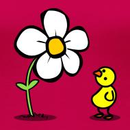 Motiv ~ Vogel Blumeshirt (farbig)