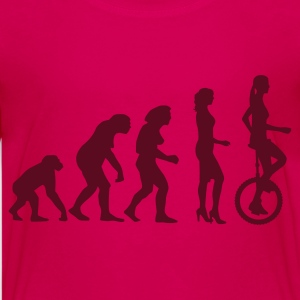 evolution_einradfahrerin_1c Shirts - Teenage Premium T-Shirt