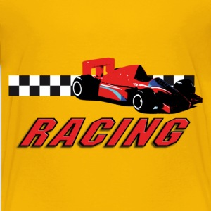 car_racer_e T-shirts - Teenager premium T-shirt
