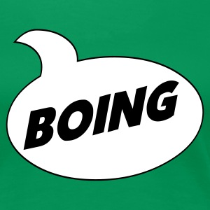 Kelly green *Boing* Comic Shirt Ladies' - Women's Premium T-Shirt