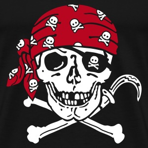 Black Pirate Skull ( for black shirts) T-Shirts - Men's Premium T-Shirt