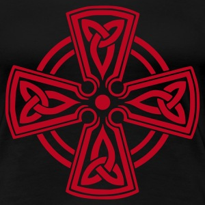 Schwarz CELTIC CROSS Girlie - Frauen Premium T-Shirt