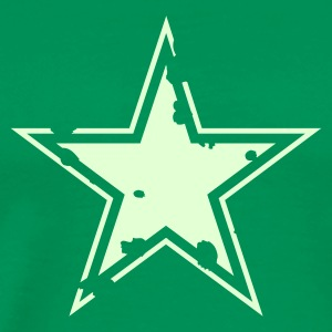 star distressed 2 ~ glow in the dark - Men's Premium T-Shirt
