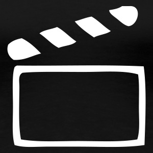 Black Clapperboard Ladies' - Women's Premium T-Shirt