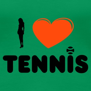 Kelly green i love tennis (female) Girlie - Frauen Premium T-Shirt