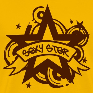 Yellow Sexy Ster T-Shirts - Men's Premium T-Shirt