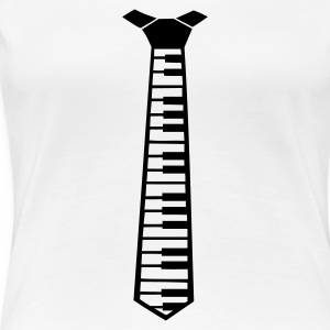 White Piano Tie - Music Ladies' - Women's Premium T-Shirt