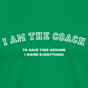 Grass green coach_t_11 T-Shirts - Men's Premium T-Shirt