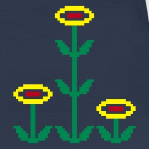 Navy Pixelflowers Girlie - Frauen Premium T-Shirt