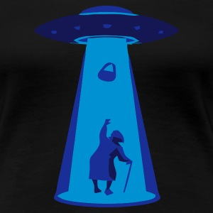 Black UFO handbag Ladies' - Women's Premium T-Shirt