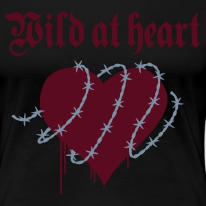 Black wild at heart Ladies' - Women's Premium T-Shirt